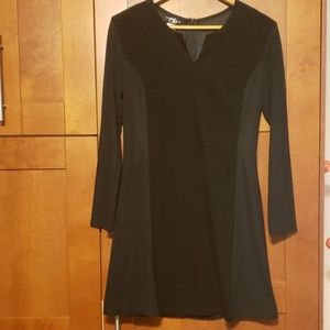 Dresses & Skirts - Long sleeve suede and stretch black dress Large
